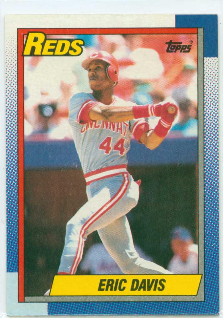 Eric Davis Fab Five Card 4 1990 Topps 30 Year Old