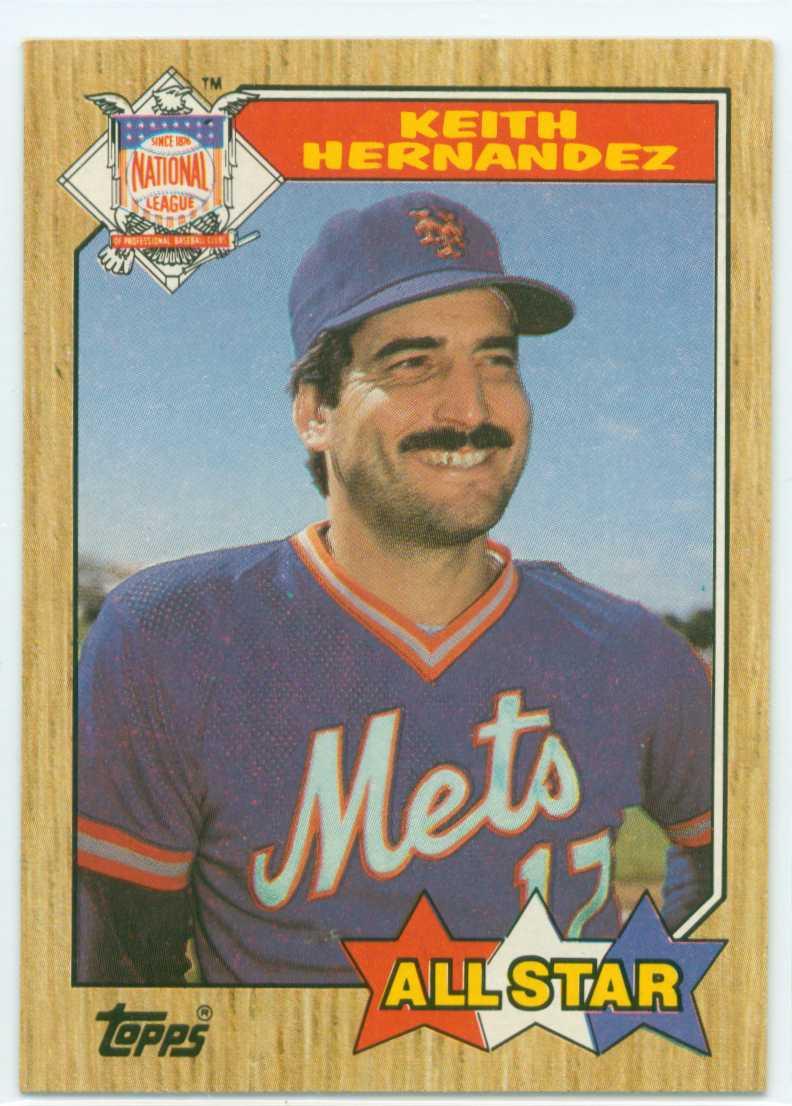 Keith Hernandez 1987 Topps All Star 30 Year Old Cardboard