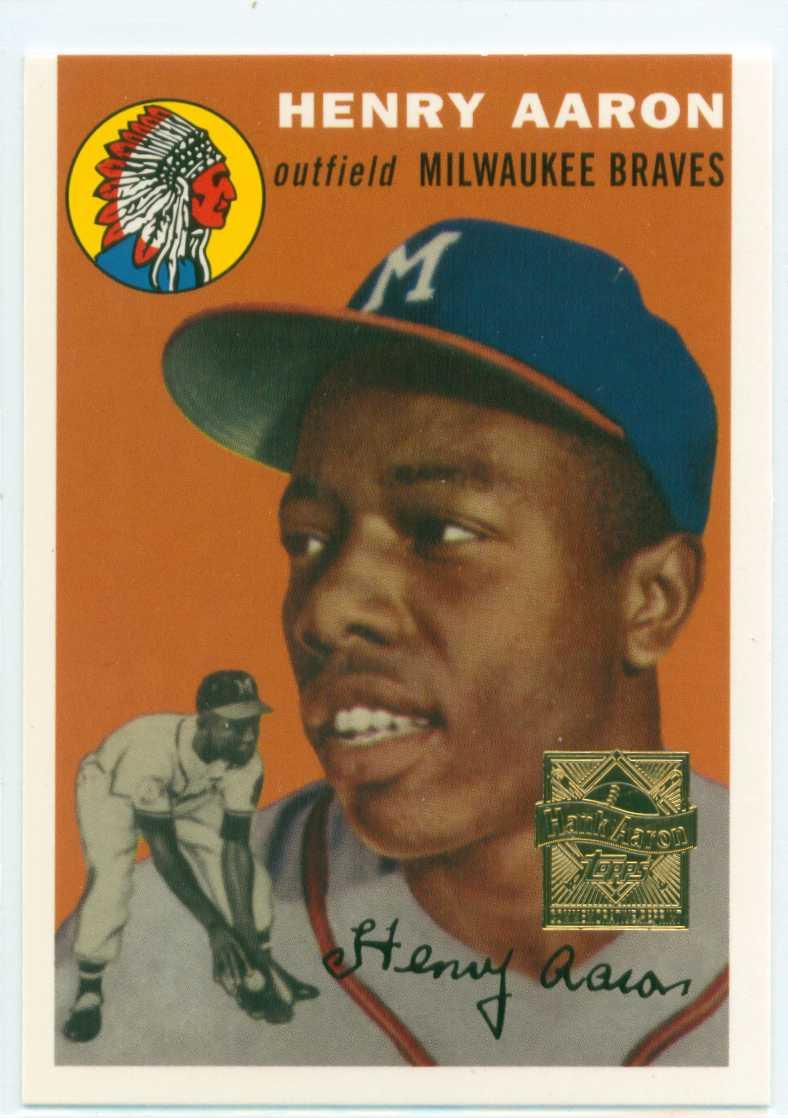 Hank Aaron 2000 Topps Commemorative Set Card 1 1954