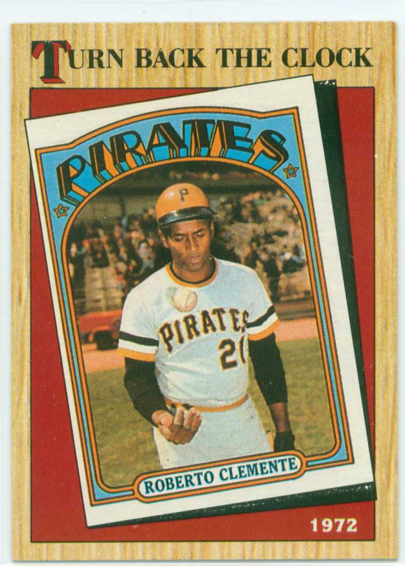 Roberto Clemente 1987 Topps Turn Back The Clock 30 Year