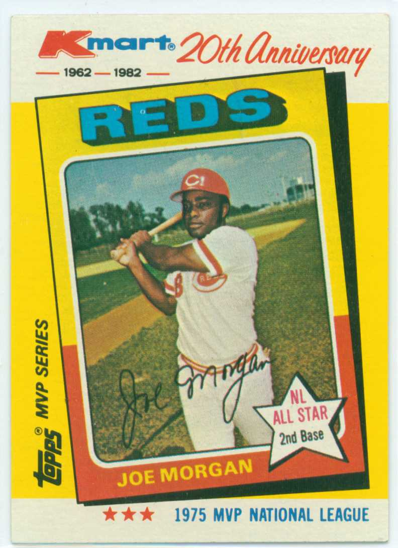 Joe Morgan 1982 Kmart 20th Anniversary Mvp Series 1975 Nl Mvp 30