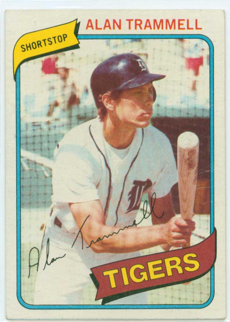 Alan Trammell Fab Five Card 2 1980 Topps 30 Year