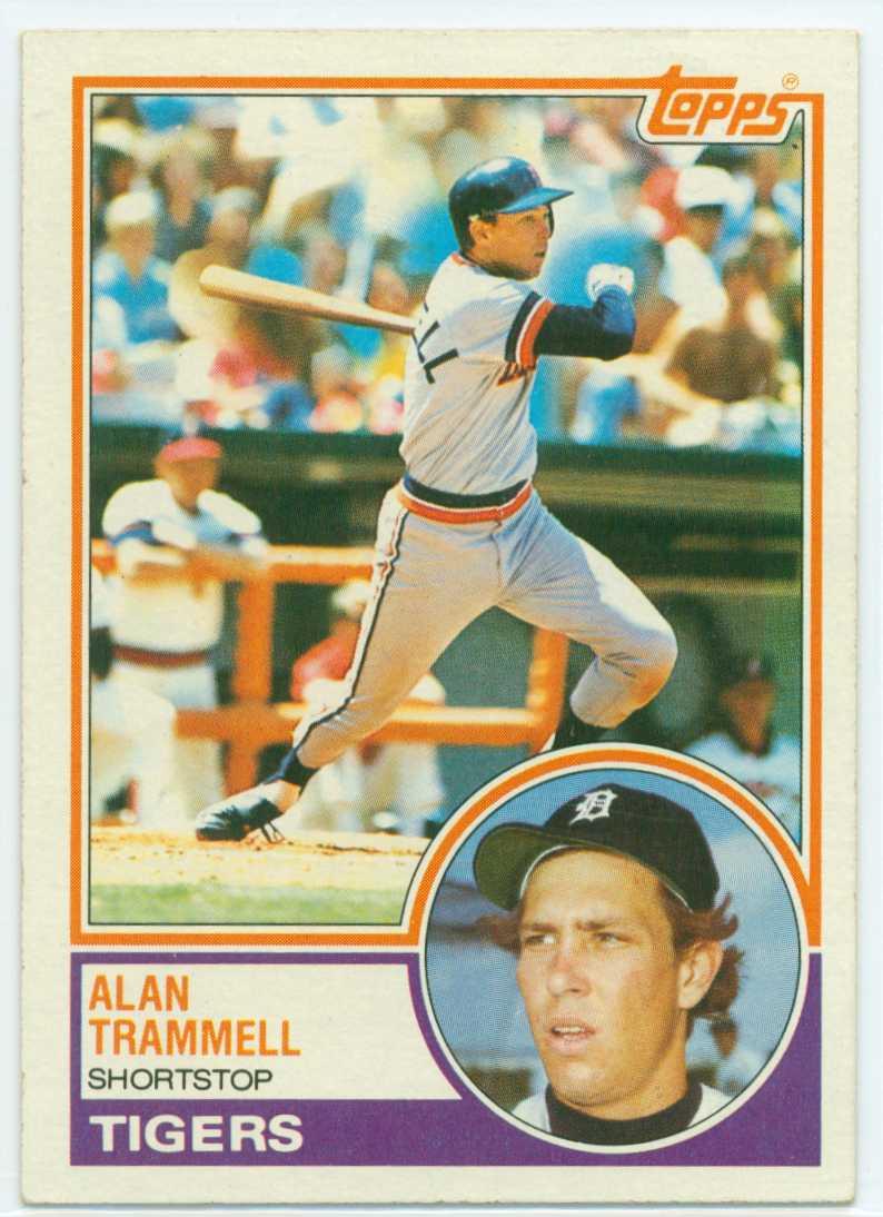 Alan Trammell Fab Five Card 5 1983 Topps 30 Year