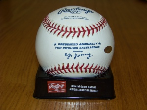 fergie cy young logo ball 1