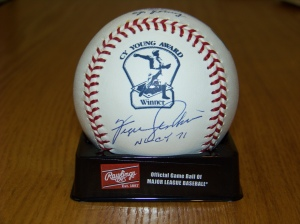 fergie cy young logo ball 2