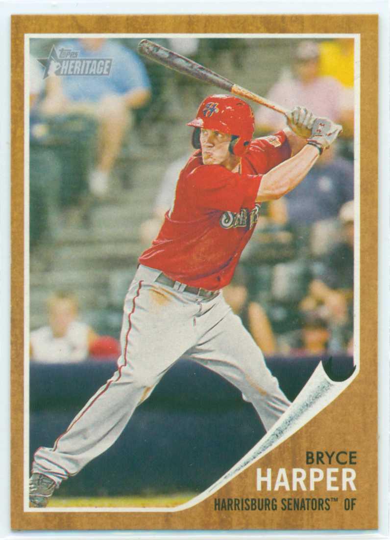 Bryce Harper 2011 Topps Heritage Minors Rookie Card