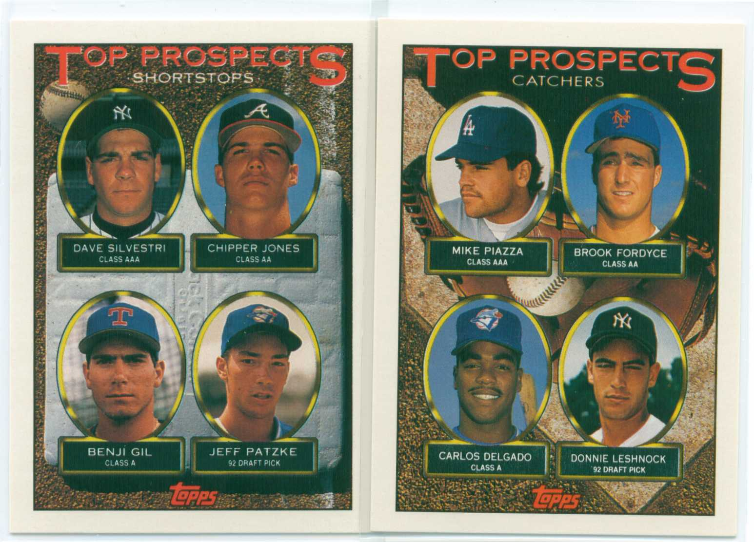 Baseball Card Show Purchase 6 Lot Of 2 1993 Topps Top Prospects