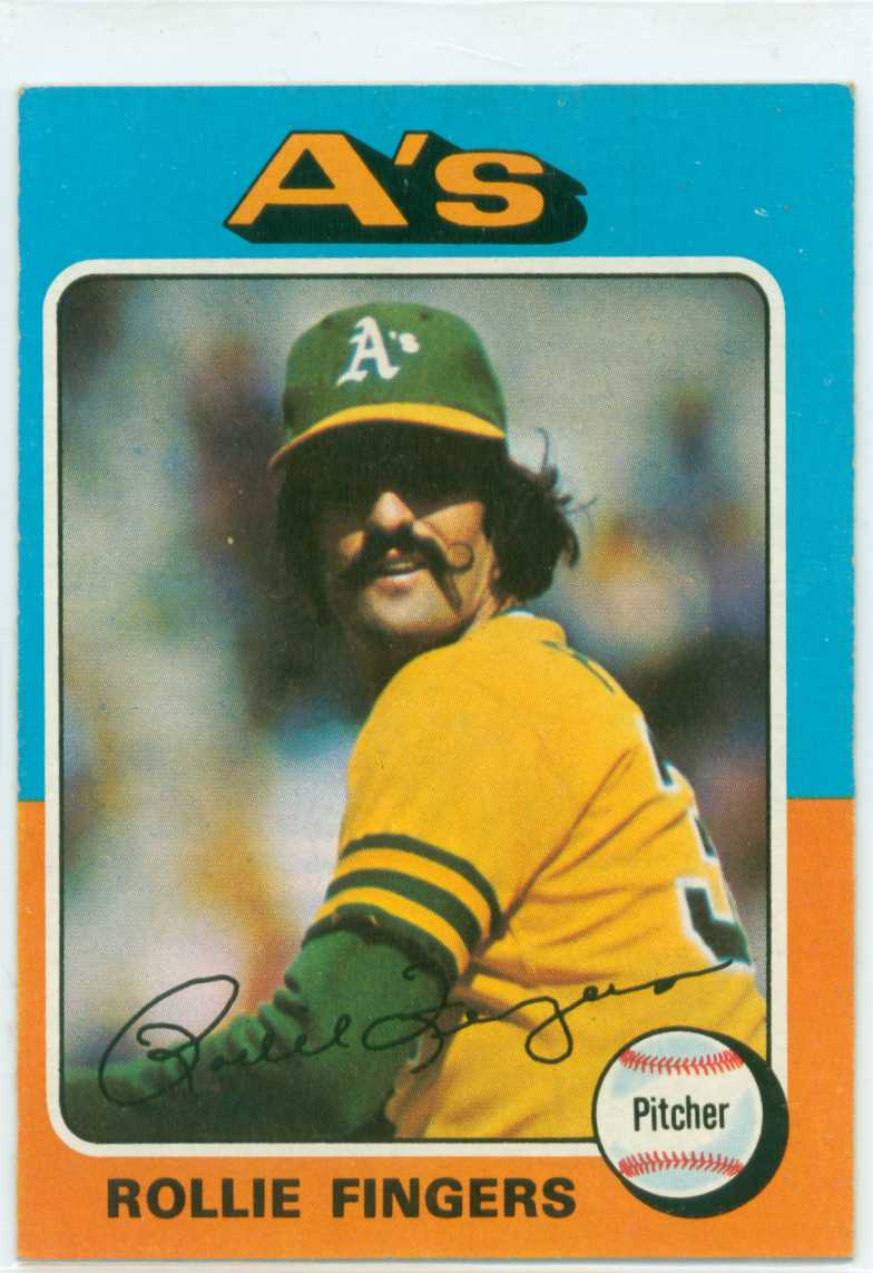 Rollie Fingers 1975 Topps Baseball Card 30 Year Old Cardboard