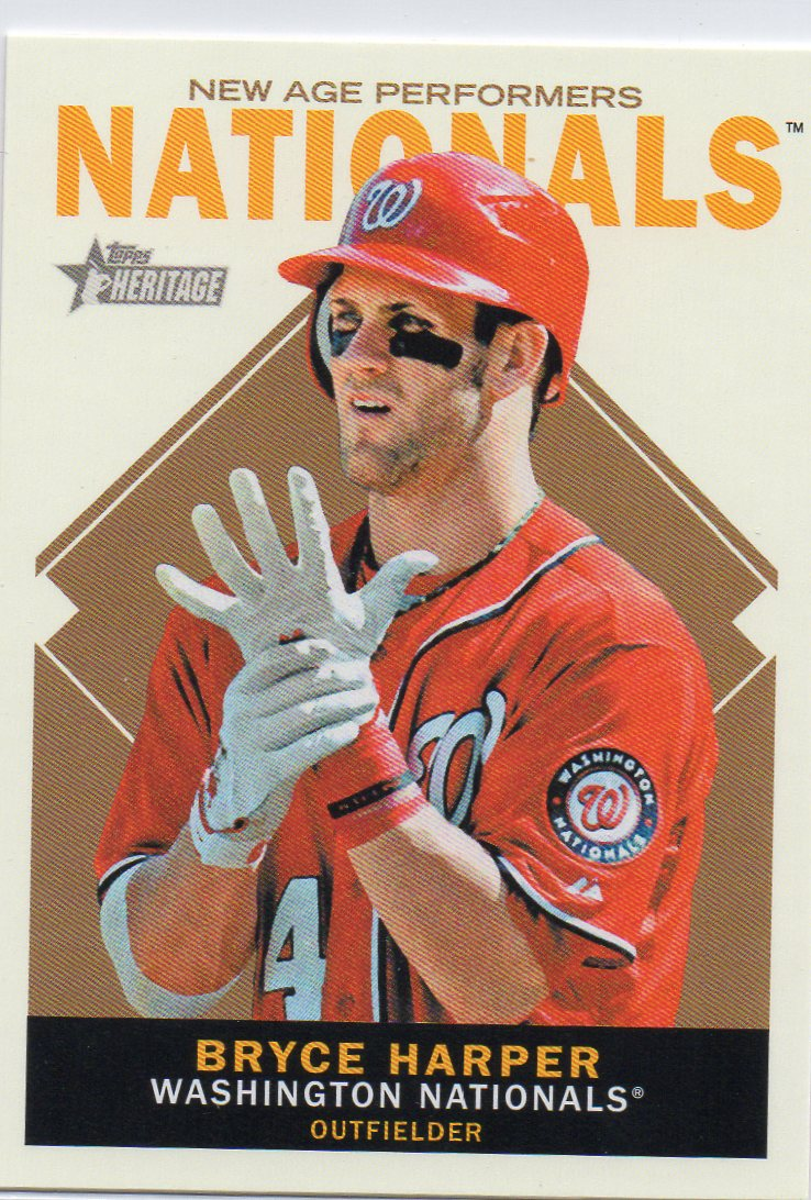 Bryce Harper 2013 Topps Heritage 'New Age Performers'