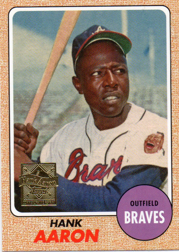 Hank Aaron 2000 Topps Commemorative Set Card 15 1968