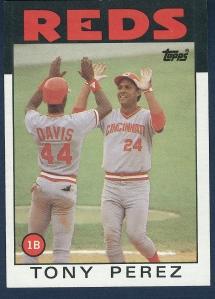 1986 Topps Tony Perez
