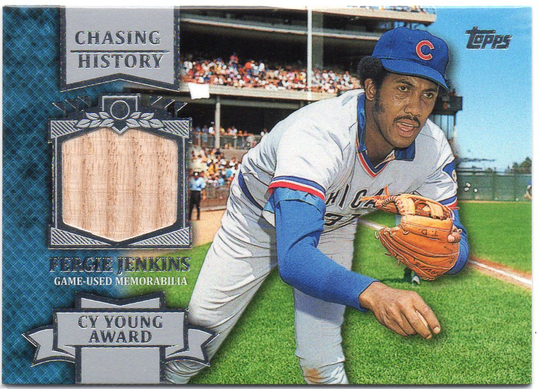 Fergie Jenkins 2013 Topps Chasing History Game Used Bat