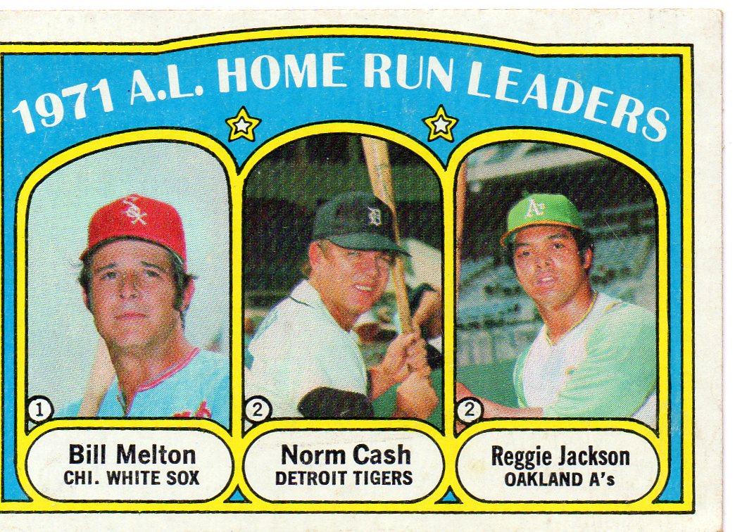 1972 topps american league home run league leader card w