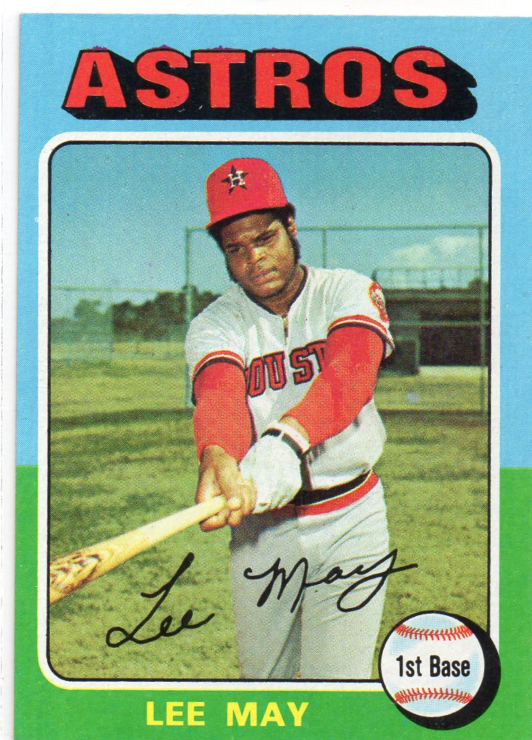Lee May Autographed 1974 Topps #500 Autographs-original Baseball-mlb