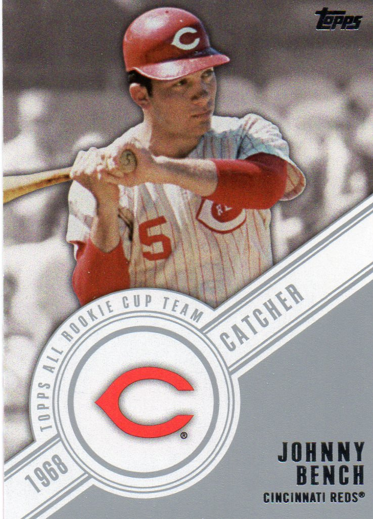 2014 Topps Series 1 Topps All Rookie Cup Team Johnny Bench 30 Year Old Cardboard