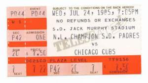 gwynn ticket stub