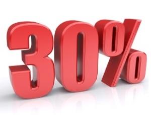 30 percent sign