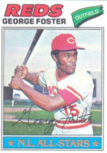 George Foster 1977 topps