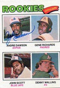 DAWSON AUTO 1977 ROOKIE