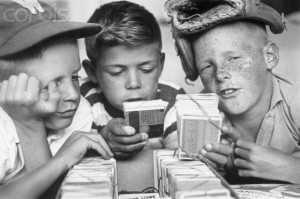 Boys Collecting Baseball Cards