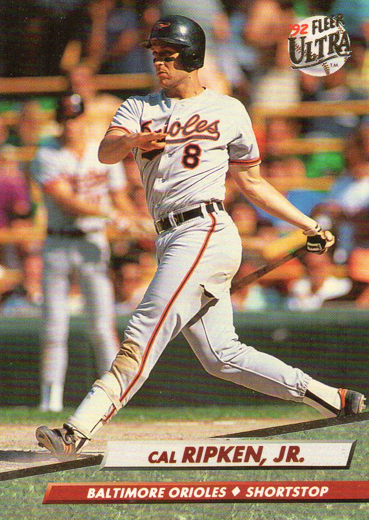 Cal Ripken Jr 1992 Fleer Ultra 30 Year Old Cardboard