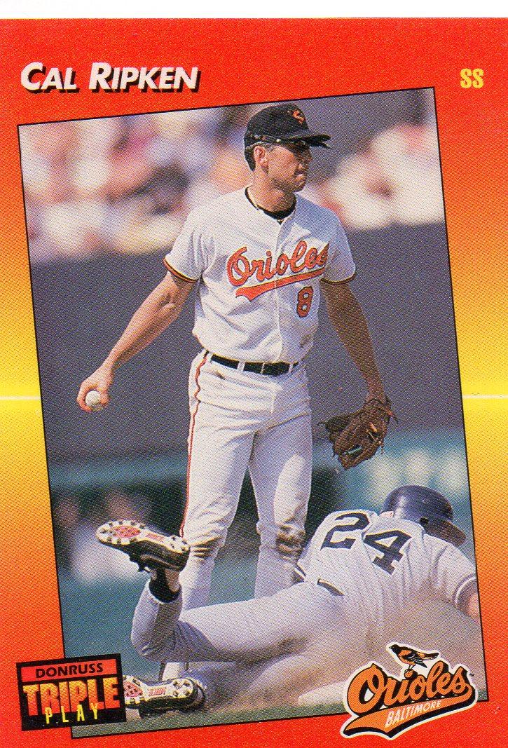 Cal Ripken Jr 1992 Donruss Triple Play 30 Year Old Cardboard