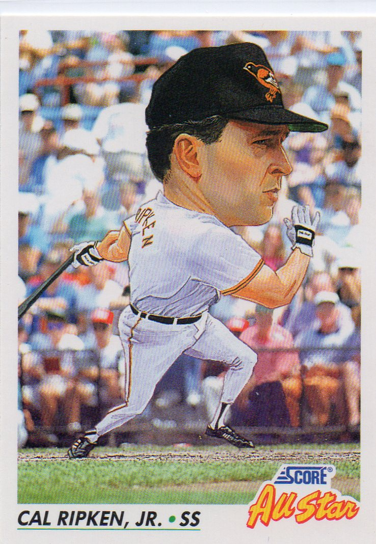 Cal Ripken Jr 1992 Score All Star 30 Year Old Cardboard